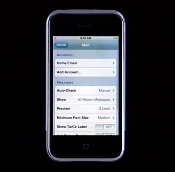 video apple zeigt iphone features. Black Bedroom Furniture Sets. Home Design Ideas