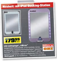 i mirror led spiegel mit ipod soundsystem bei obi. Black Bedroom Furniture Sets. Home Design Ideas