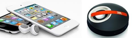iPod touch und JBL-Lautsprecher