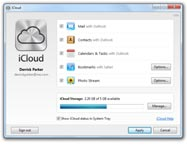 iCloud-Systemsteuerung für Windows