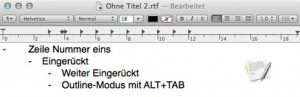 Outline-modus-textedit-mac-osx