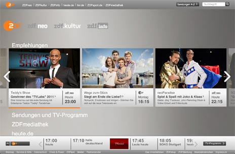 zdf onlineauftritt mit blick auf ipad besucher. Black Bedroom Furniture Sets. Home Design Ideas