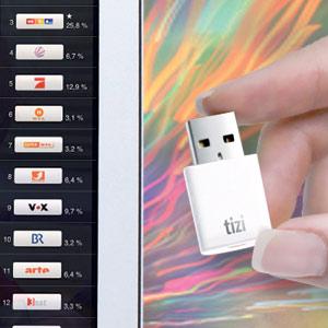 Tizi für Mac: Neuer Mini-TV-Empfänger für den USB-Anschluss