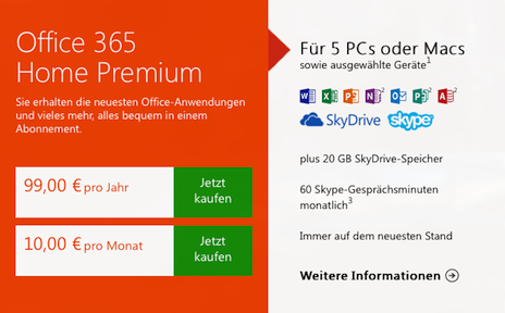 microsoft ver ffentlicht office 365 home premium und office 2013. Black Bedroom Furniture Sets. Home Design Ideas