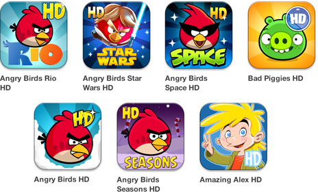 angry birds spile