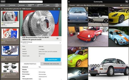 Fahrzeug und ersatzteilsuche ebay motors jetzt als for Ebay motors iphone app