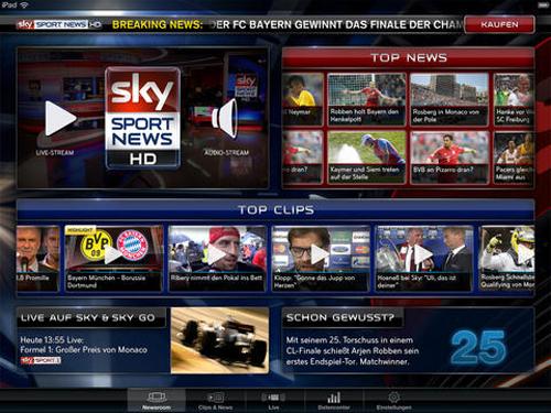 sky platziert sport news hd im app store auch ohne sky abo nutzbar. Black Bedroom Furniture Sets. Home Design Ideas