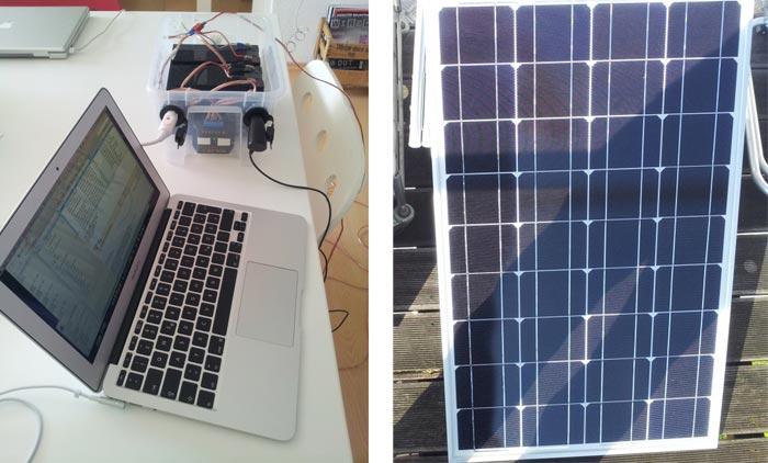 selber machen solar ladestationen f r iphone ipad und macbook. Black Bedroom Furniture Sets. Home Design Ideas