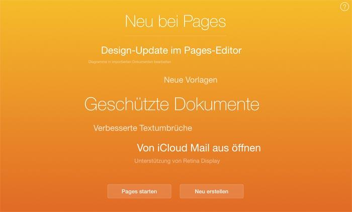 iWork-Update: Pages, Numbers und Keynote aktualisiert › ifun de