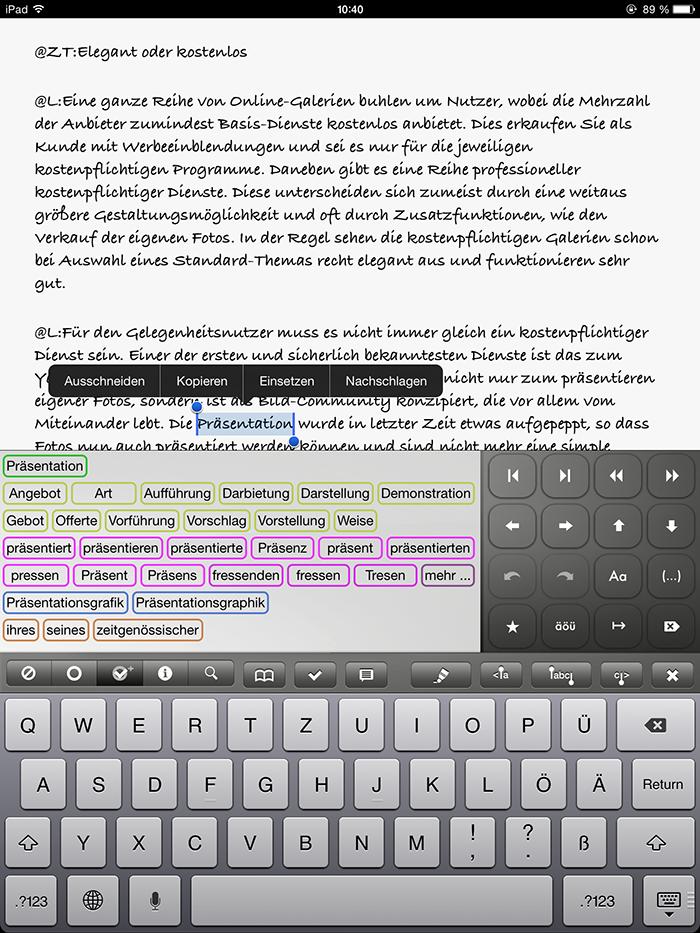 Textkraft Ios Texteditor Mit Vielen Extras Für Kurze Zeit Im