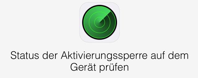 neues iphone aktivierungssperre