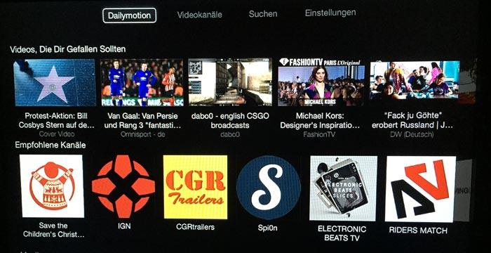 Neu auf Apple TV: Dailymotion, UFC und eine überarbeitete