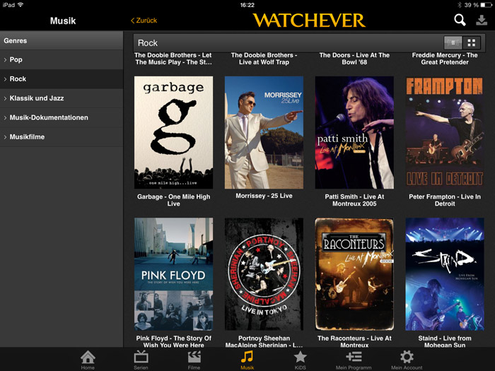watchever-musik-ipad