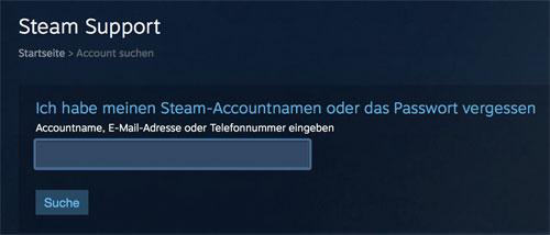 steam anmeldung passwort