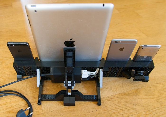 Das beste LEGO-Dock bisher: Selbstgebaute Ladestation für vier iOS ...