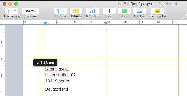 Brief Vorlagen Nach Din 5008 Falzmarken Und Maße Für Apples Pages