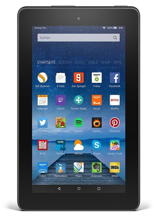 amazon fire ein 7 tablet f r 60 euro. Black Bedroom Furniture Sets. Home Design Ideas