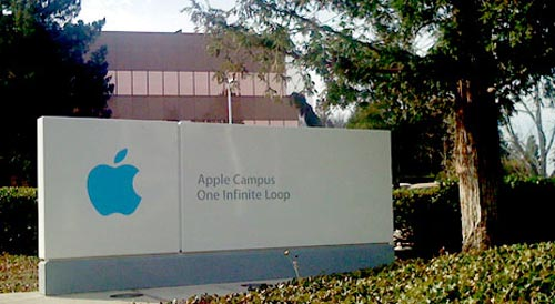 Apple Firmenschild Cupertino