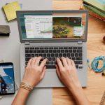 Chromebook Schreibtisch