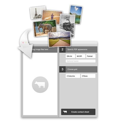 Consheeta Kontaktbogen App Mac