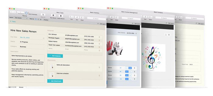 Filemaker Desktop Screenshots
