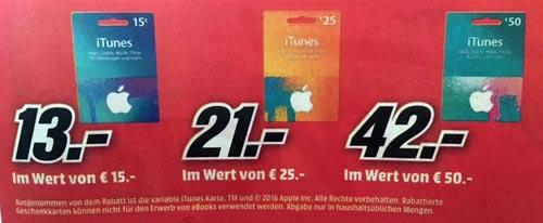 Itunes Karten Media Markt