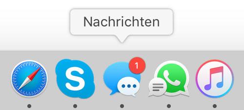 Nachrichten App Dock Symbol