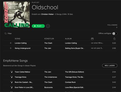 Spotify Empfehlungen