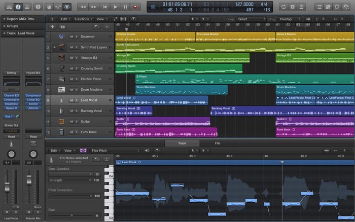 Logic Pro X Screenshot