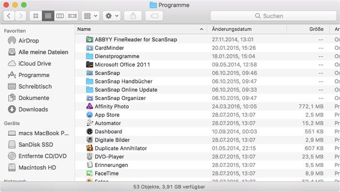 Mac Dateien Unter Ordnern Anzeigen Finder