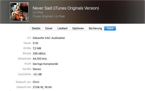 Musik Kaufdatum Itunes Store