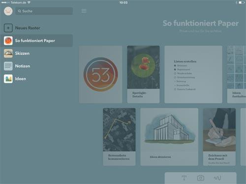 Paper App Ios Seitenleiste