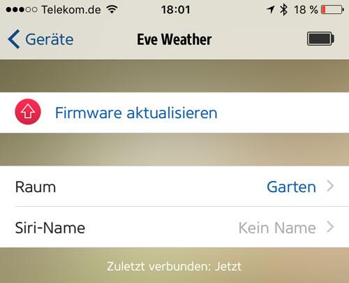 Elgato Eve Firmware