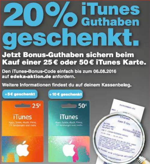 itunes karten diese woche 20 bonus guthaben. Black Bedroom Furniture Sets. Home Design Ideas