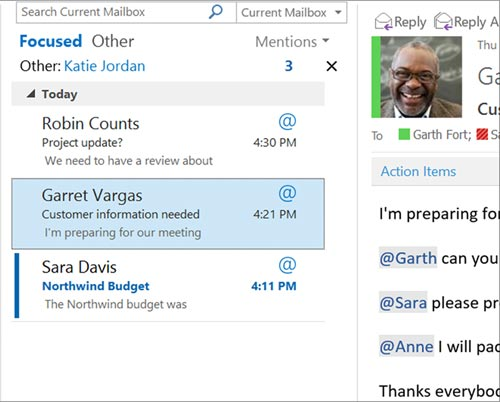 Microsoft Focused Inbox Outlook
