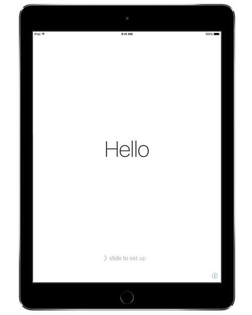Neues Ipad Erster Bildschirm