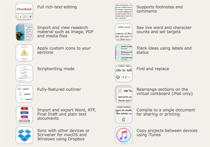 Scrivener Ios Features