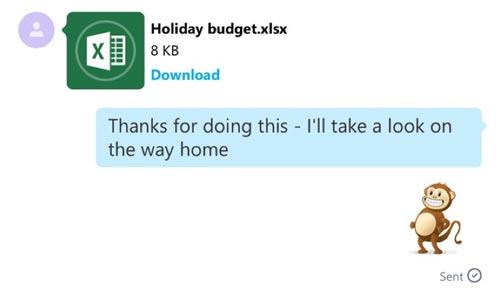 Skype Datei Verschicken