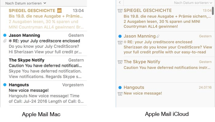 Spam Mails Apple Mail