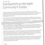 Apple Nachricht An Europa