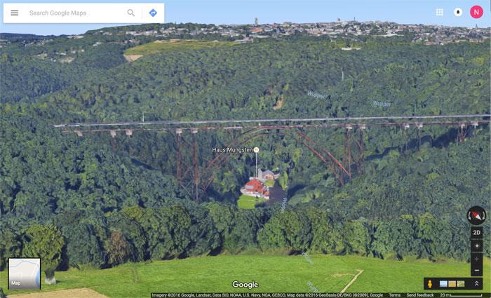 Solingen Bruecke Google Maps 3d