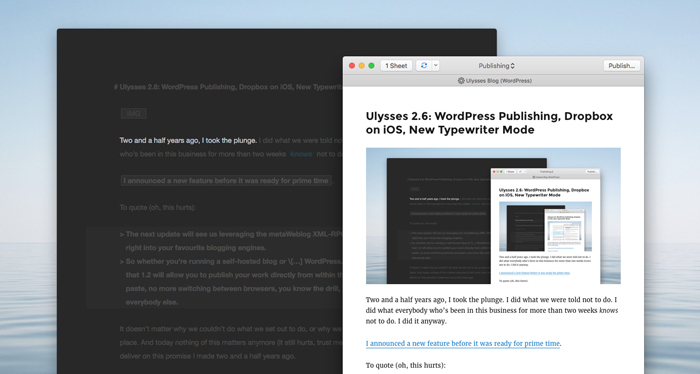 Ulysses WordPress