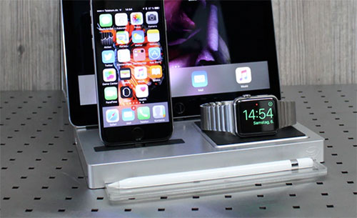 evolus auf kickstarter dockingstation ipad apple watch und iphone. Black Bedroom Furniture Sets. Home Design Ideas