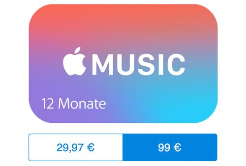 Apple Music Jahresabo