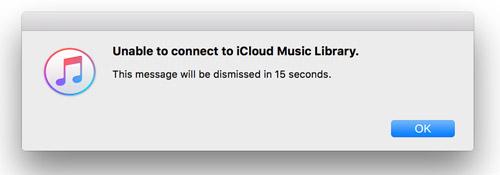 Fehler Icloud Musicbibliothek