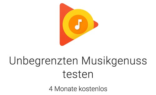 Google Play Music Testangebot