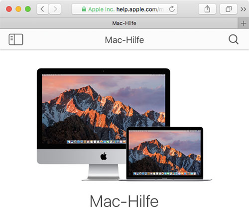 Mac Hilfe
