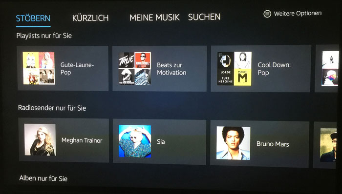 Amazon Fire Tv Musik A