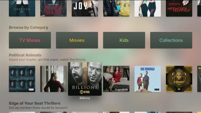 Apple Tv App Kategorien