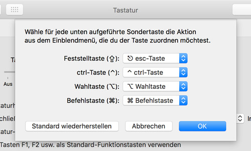 Macbook Pro Tastatur Escape Taste